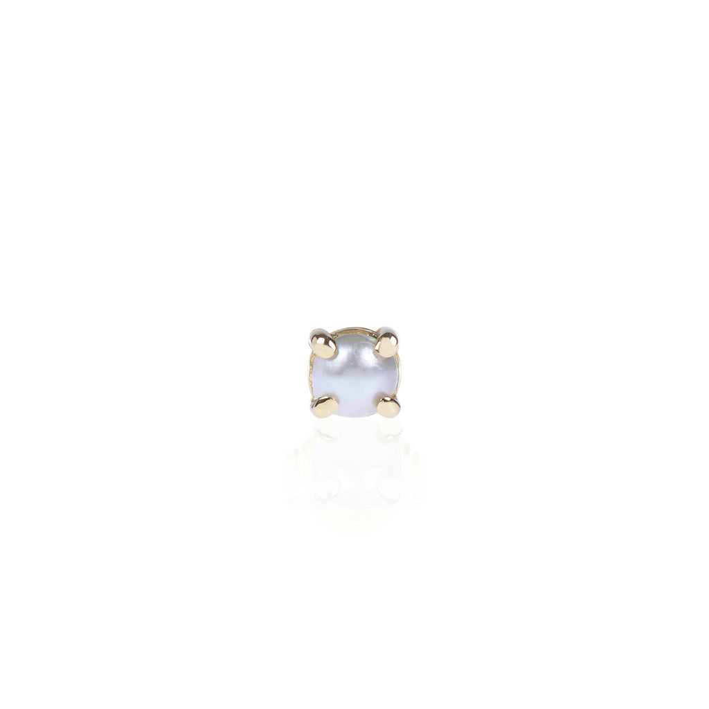 Mabe Pearl Stud in 18ct yellow gold by McFarlane Fine Jewellery