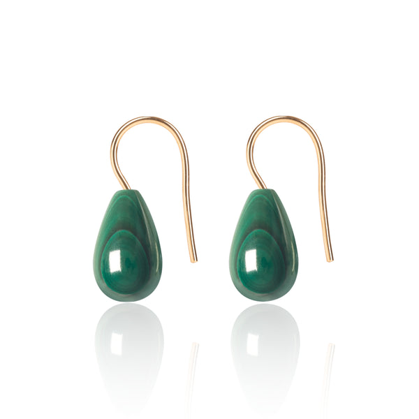 Malachite Earrings Medium by McFarlane Fine Jewellery