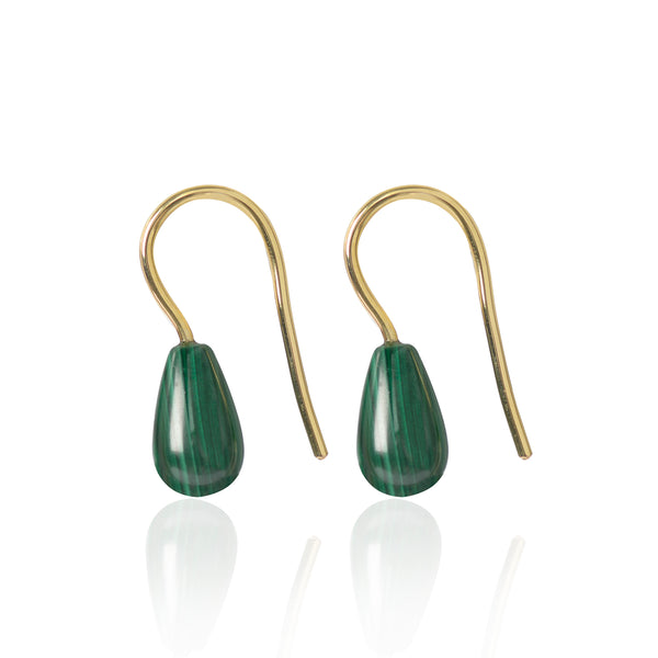 Malachite Earrings by McFarlane Fine Jewellery