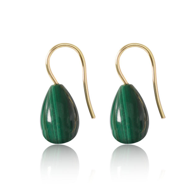 Malachite Earrings Large by McFarlane Fine Jewellery