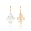 Mini Frosted Fleur des Lys Earrings