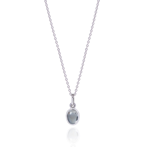 Moonstone Necklace in 18ct white gold by McFarlane Fine Jewellery
