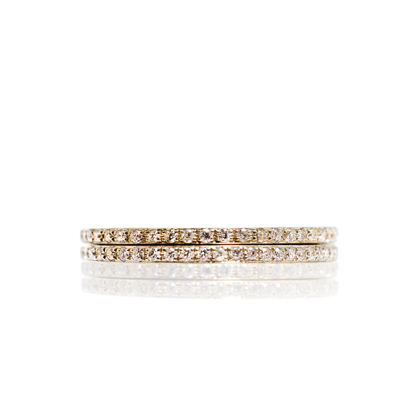 Pair of 18ct Yellow Gold Diamond Rings by McFarlane Fine Jewellery