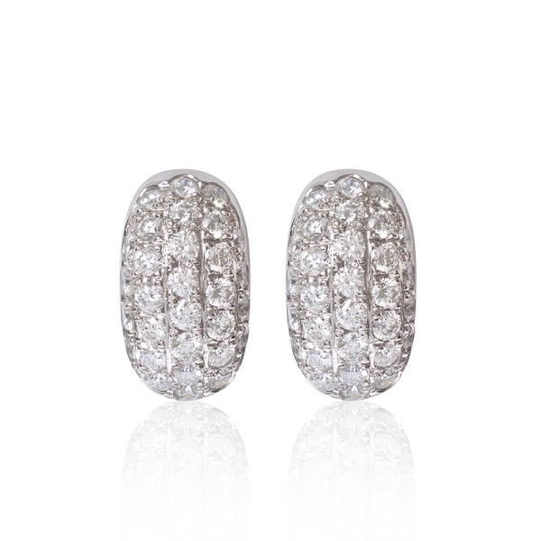 Pavé diamond encrusted earrings by Love Is