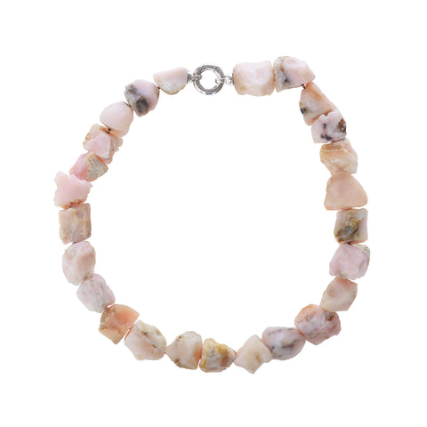 Pink Peruvian Rough Opal Necklace