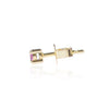 Pink Sapphire Stud Side View in 18ct yellow gold by McFarlane Fine Jewellery