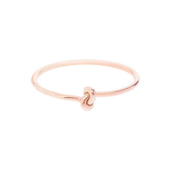 18ct Rose Gold Forget Me Knot Ring