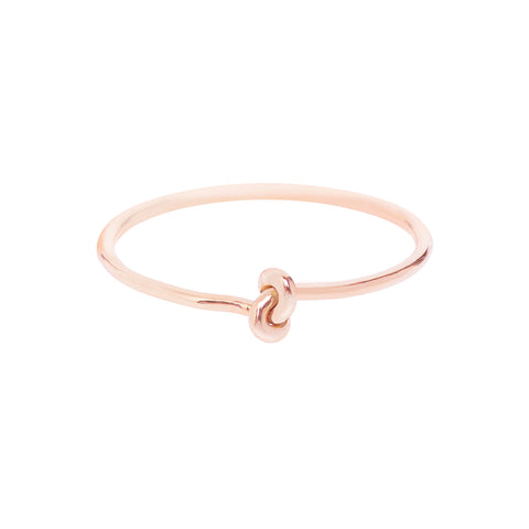 18ct Rose Gold Forget Me Knot Ring by McFarlane Fine Jewellery