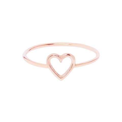 18ct Rose Gold Heart Ring by Love Is