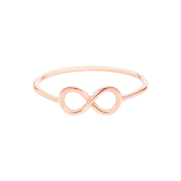 18ct Rose Gold To Infinity Ring by Love Is