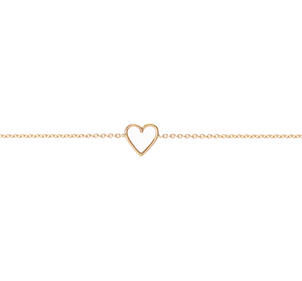 18ct yellow gold Heart Bracelet by McFarlane Fine Jewellery