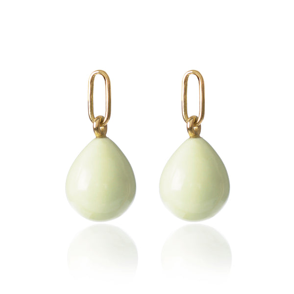 Lemon Chrysoprase Earring Pendants by McFarlane Fine Jewellery