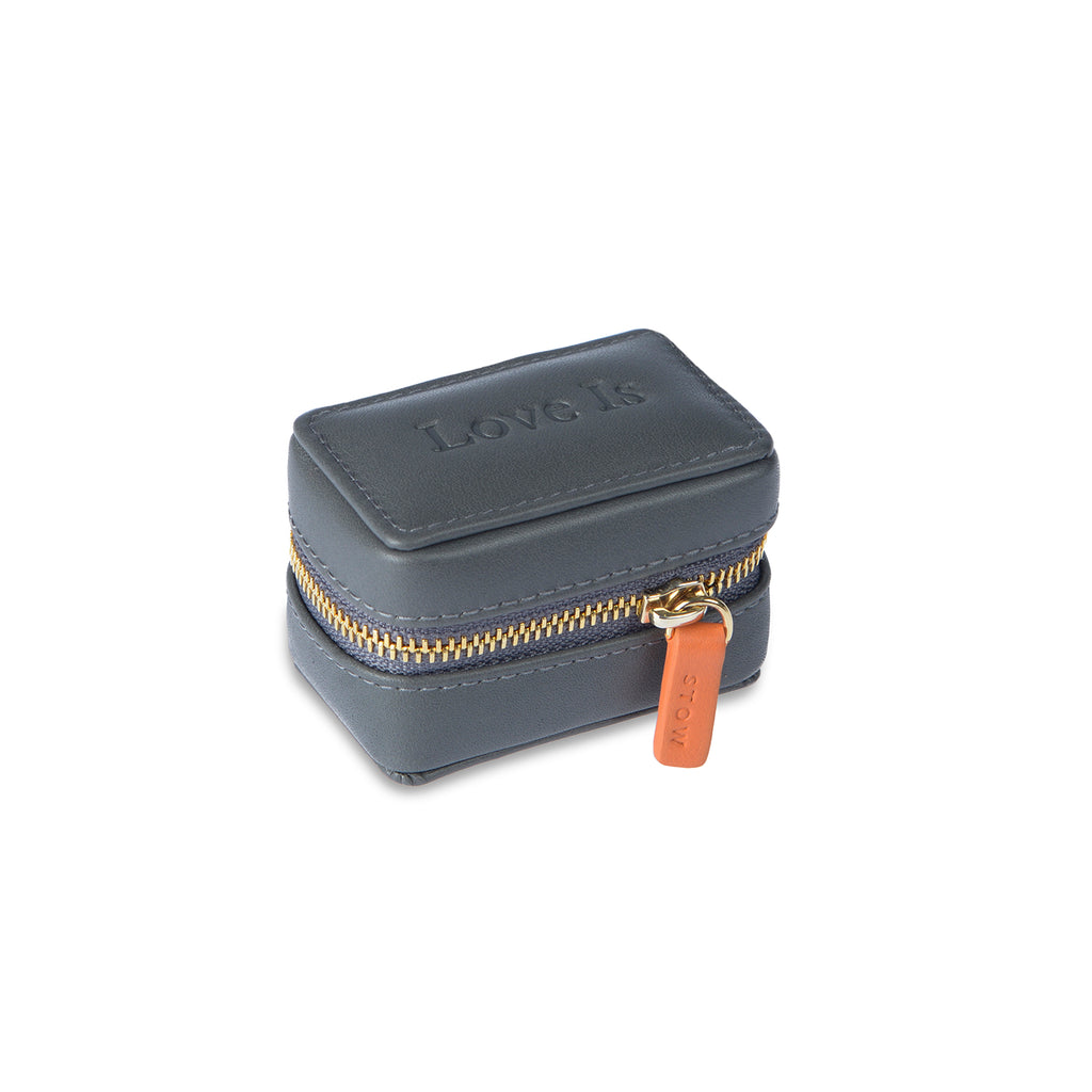 Love Is x Stow Jewellery Case Small Embossed Logo Closed