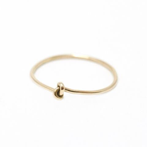 18ct yellow gold Forget Me Knot Ring by McFarlane Fine Jewellery