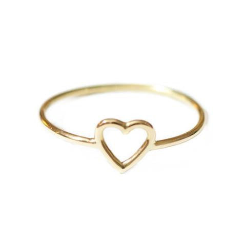 18ct yellow gold Little Heart Ring by McFarlane Fine Jewellery
