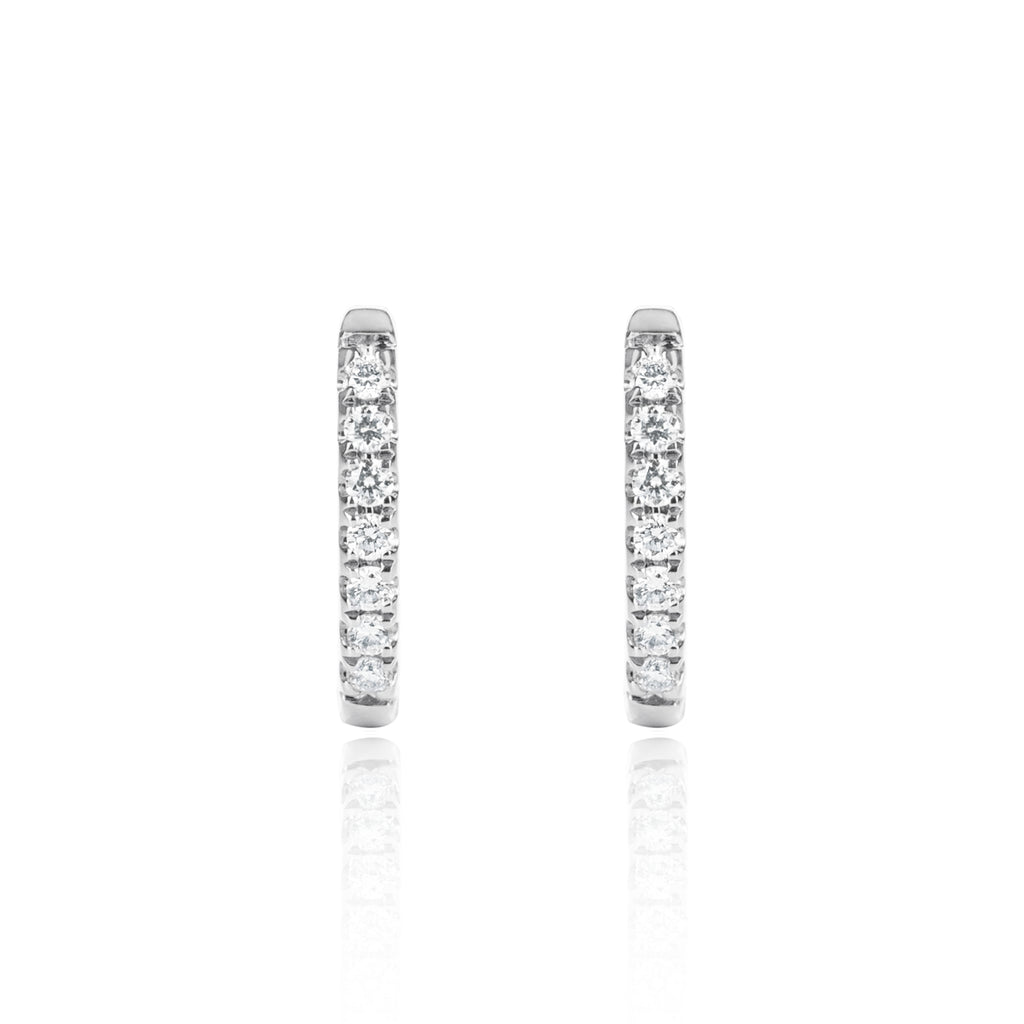 White Gold Diamond Huggies Medium by McFarlane Fine Jewellery