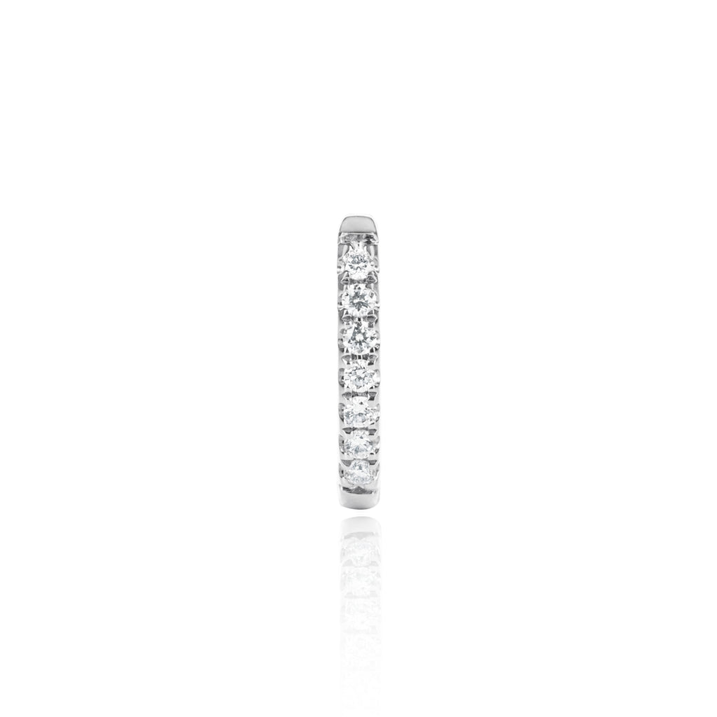 White Gold Diamond Huggy Medium by McFarlane Fine Jewellery