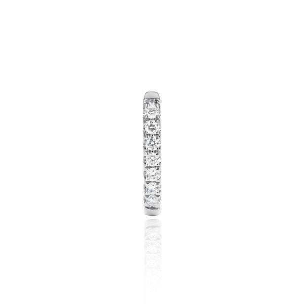 White Gold Diamond Huggy Medium