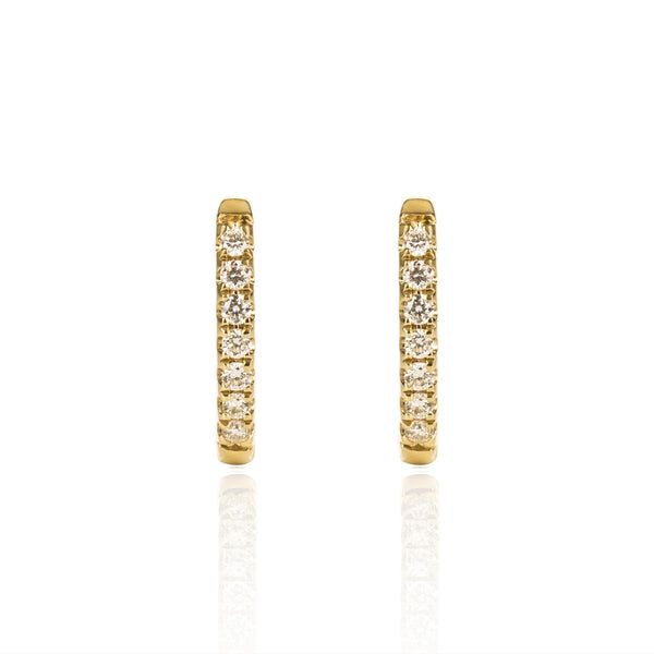 Yellow Gold Diamond Huggies Medium by McFarlane Fine Jewellery