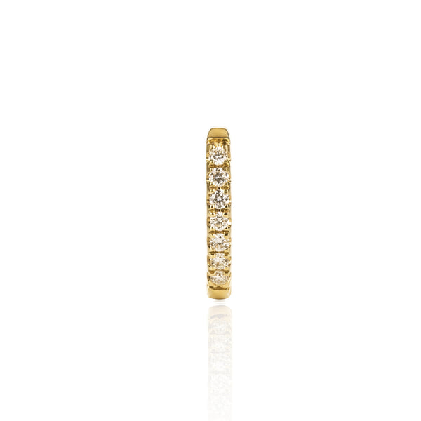 Yellow Gold Diamond Huggy Medium by McFarlane Fine Jewellery