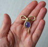 Tanzanite Bow Brooch