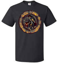 Load image into Gallery viewer, black unisex shirt with lion head and in God we trust