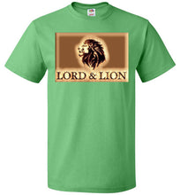 Load image into Gallery viewer, green unisex t-shirt with gold lion head