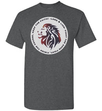 Load image into Gallery viewer, grey t-shirt with lion head on it