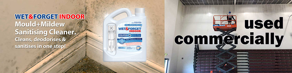 Wet & Forget Indoor Gets Rid of Mould and Mildew Domestically and Commercially