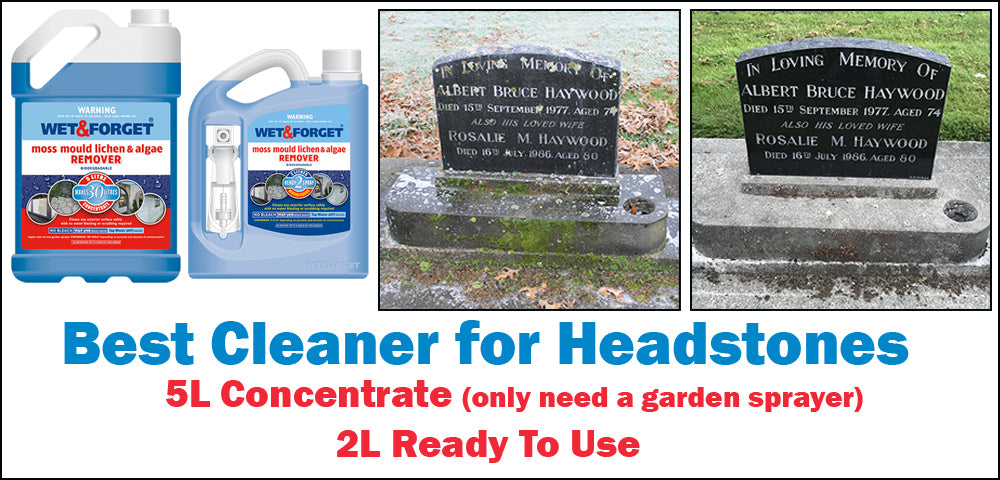 Wet & Forget is the Best Cleaner for Headstones and Graves