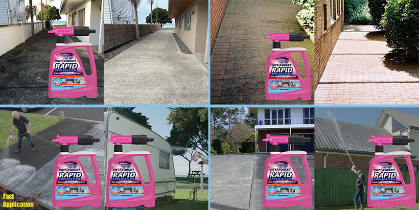 look at all the surfaces that Rapid Application Cleans up