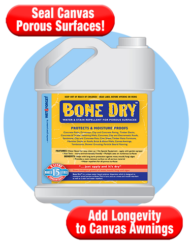 Bone Dry For Canvas Tents Seals Its Porosity