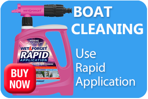 Clean the Exterior of Your Boat with Rapid Application
