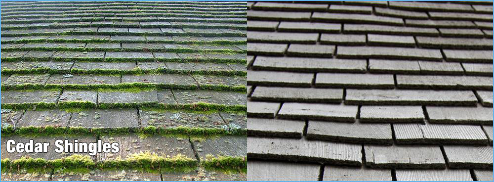 Cedar Shingles Clean Up with Rapid Application or Wet & Forget