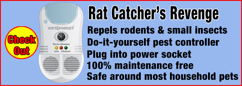 Repel Rats and Mice and Small Insects with Rat Catchers Revenge