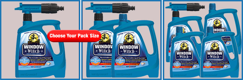 Window Cleaning with Window Witch has Optional Pack Sizes