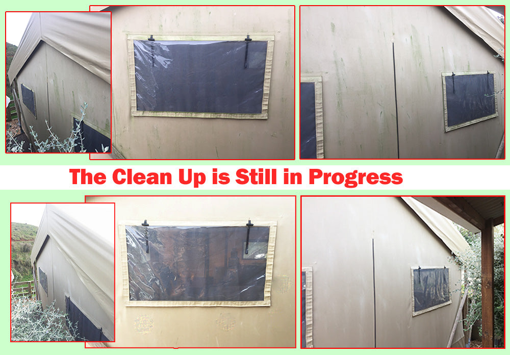 Clean Mould and Mildew from a Tent with Wet & Forget or Rapid Application