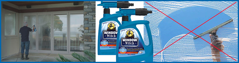 Window Witch Exterior Window Cleaner Needs No Squeegee