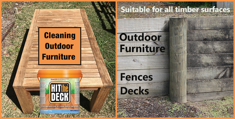 Hit The Deck will Clean decks, fences and outdoor furniture