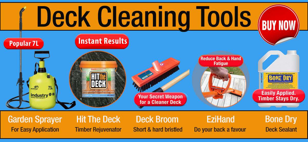 Deck Cleaning Tools Make the Clean Easier