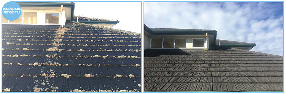 Cleaning a Decramastic Roof is Easy with Wet & Forget or Rapid Application