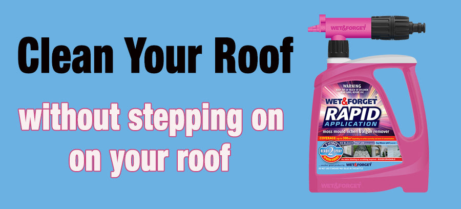 Clean Your Roof with Rapid Application is the Easiest Job with Wet & Forget's Rreach Nozzle
