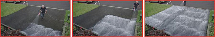 Cleaning Black Fungi Off Concrete Driveways is Fast With Rapid Application