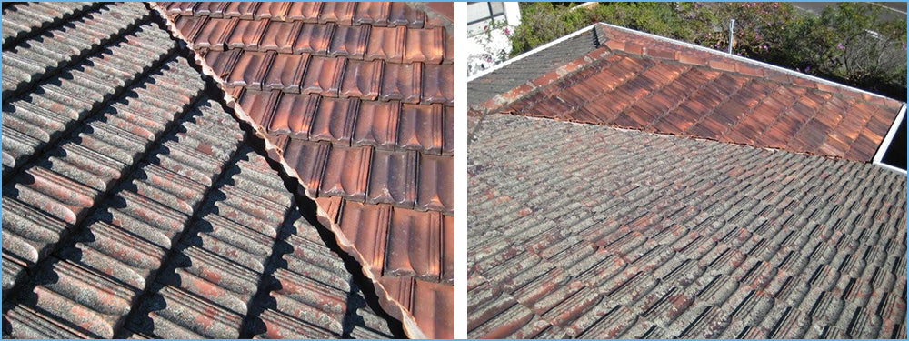 Roof Cleaning of Glazed Clay Tiles