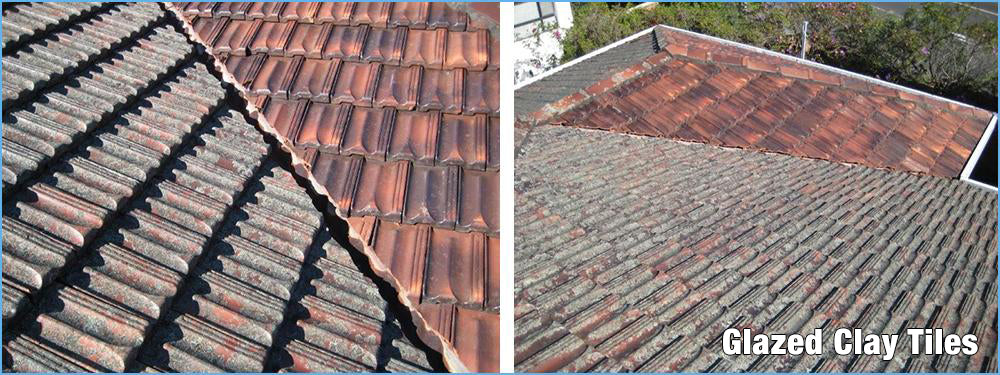 Glazed Clay Tiles Look Like new after a Clean Up with Rapid Application or Wet & Forget