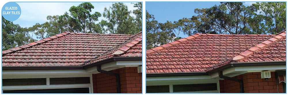 Glazed Clay Tiles Can Be Cleaned with Rapid Application - a great product by Wet and Forget