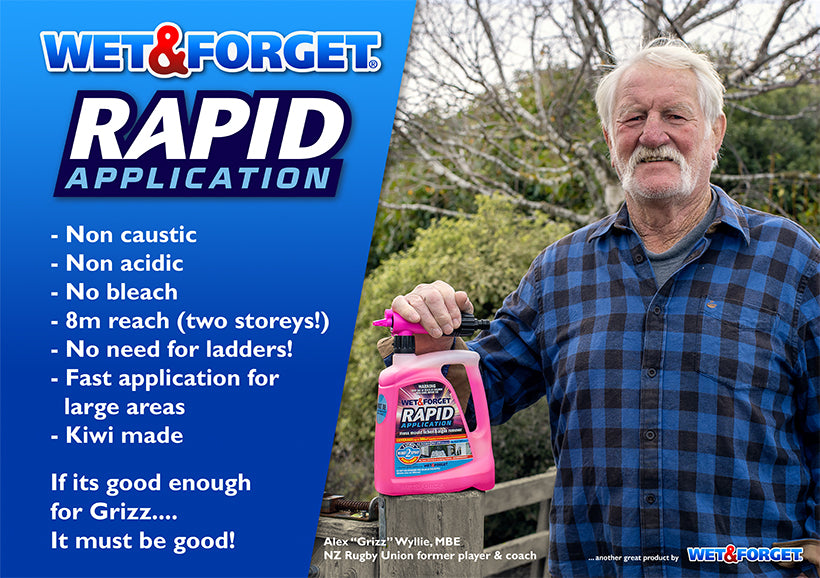 Grizz Wyllie recommends Rapid Application to Clean ALL Exterior Surfaces