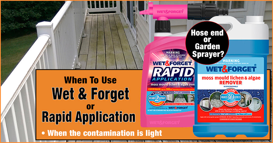 Cleaning Your Deck is Easy With Wet & Forget or Rapid Application Products