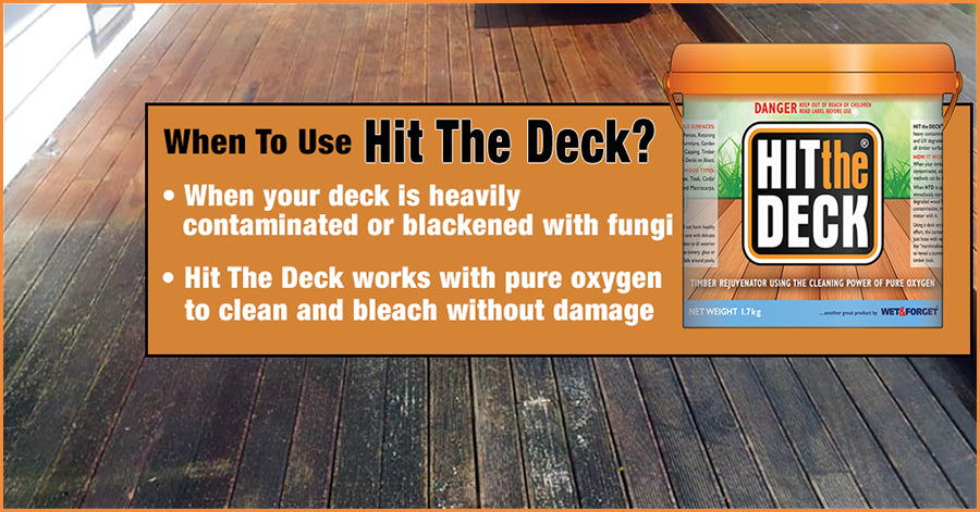 Use Hit The Deck to Clean Up Very Blackened Dirty decks