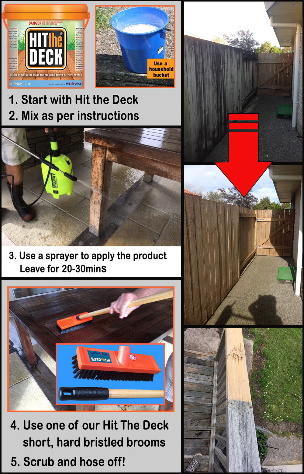 Hit The Deck Deck Cleaner  - So Easy To Use